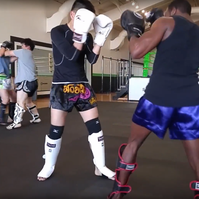 Muay Thai Sparring Clinching