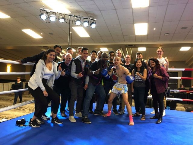 Lotus family in the ring after the win!